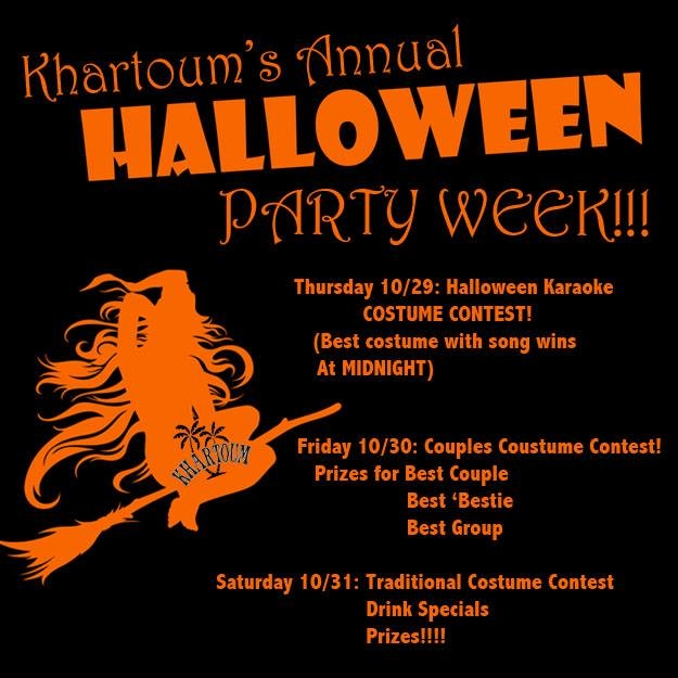 Khartoum Halloween Party: Traditional Costume Contest | Downtown ...